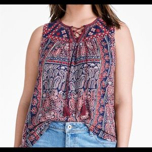 💃 💃 NWT LUCKY  BRAND LACE TANK